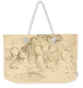 At The Gambling Table (second Plate) Weekender Tote Bag