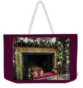 At The Hearth Of Christmas Weekender Tote Bag