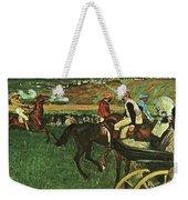At The Races, Digitally Enhanced, Edgar Degas, Digitally Enhanced Maximum Resolution Weekender Tote Bag