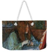 At The Toilet, Madame Poupoule Weekender Tote Bag