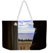 At The Window In Taormina Weekender Tote Bag