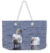 At Your Service. Mute Swan Weekender Tote Bag