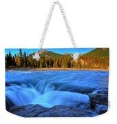 Athabasca Falls In Jasper National Park Weekender Tote Bag