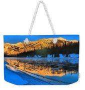 Athabasca River Glow Weekender Tote Bag