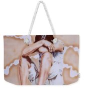 Athabaskan Girl On A Rock Weekender Tote Bag