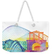 Athens Landmarks Watercolor Poster Weekender Tote Bag
