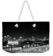 Atlanta Black And White Panorama Weekender Tote Bag