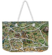 Atlanta Cartoon Map Weekender Tote Bag
