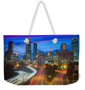 Atlanta Downtown By Night Weekender Tote Bag