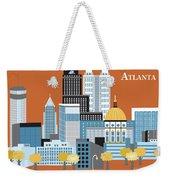 Atlanta Georgia Horizontal Skyline Weekender Tote Bag