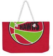 Atlanta Hawks Vintage Basketball Art Weekender Tote Bag