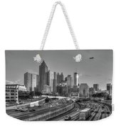 Atlanta Sunset Good Year Blimp Overhead Cityscape Art Weekender Tote Bag