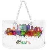 Atlanta V2 Skyline In Watercolor Weekender Tote Bag