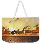 Atlantic Ocean Sunset In Oil  Weekender Tote Bag