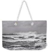 Atlantic Storm In Black And White Weekender Tote Bag