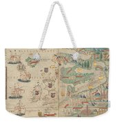 Atlas Miller Nautical Atlas Weekender Tote Bag