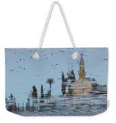 Atmospheric Hala Sultan Tekke Reflection At Larnaca Salt Lake Weekender Tote Bag