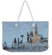 Atmospheric Hala Sultan Tekke Reflection At Larnaca Salt Lake Weekender Tote Bag