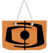 Atomic Shape 1 On Orange Weekender Tote Bag