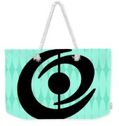 Atomic Shape 2 On Aqua Weekender Tote Bag