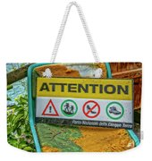Attention Vernazza Trail Head Italy Dsc02657 Weekender Tote Bag