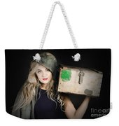 Attractive Pinup Girl. Blond Bombshell Weekender Tote Bag