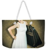 Attractive Young 1950s Woman Ready For Travel Tour Weekender Tote Bag