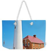 Au Sable Lighthouse In Pictured Rocks National Lakeshore-michigan  Weekender Tote Bag