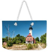 Au Sable Point Lighthouse Weekender Tote Bag