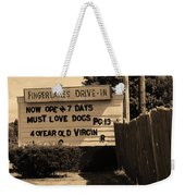 Auburn, Ny - Drive-in Theater Sepia Weekender Tote Bag