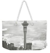 Auckland New Zealand Sky Tower Bw Texture Weekender Tote Bag
