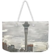 Auckland New Zealand Sky Tower Textured Weekender Tote Bag