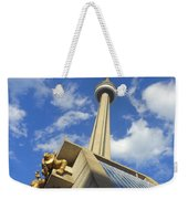 Audience Sculpture And The Cn Tower Weekender Tote Bag