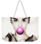 Audrey Hepburn Bubblegum Weekender Tote Bag