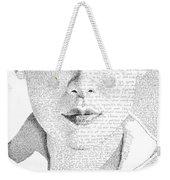 Audrey Hepburn In Her Own Words Weekender Tote Bag