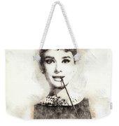 Audrey Hepburn Portrait 01 Weekender Tote Bag