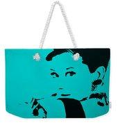 Audrey Light Blue Weekender Tote Bag