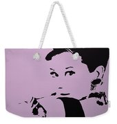Audrey Pink Weekender Tote Bag
