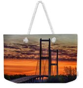 Audubon Bridge Sunrise Weekender Tote Bag