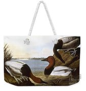 Audubon: Canvasback, 1827 Weekender Tote Bag