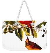 Audubon: Cardinal Weekender Tote Bag
