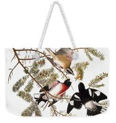 Audubon: Grosbeak Weekender Tote Bag