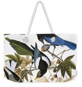 Audubon: Jay And Magpie Weekender Tote Bag