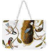 Audubon: Titmouse Weekender Tote Bag