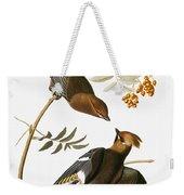 Audubon: Waxwing Weekender Tote Bag