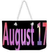 August 17 Weekender Tote Bag