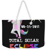 August 21 Solar Total Eclipse Funny Dabbing Unicorn Weekender Tote Bag