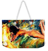 Aura Of Love - Palette Knife Oil Painting On Canvas By Leonid Afremov Weekender Tote Bag