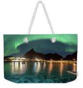 Aurora Above Turquoise Waters Weekender Tote Bag