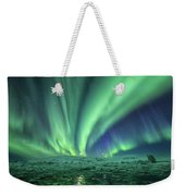 Aurora At Glacier Lagoon Weekender Tote Bag